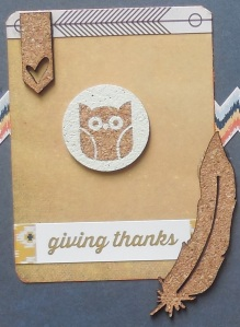 giving thanks pl card